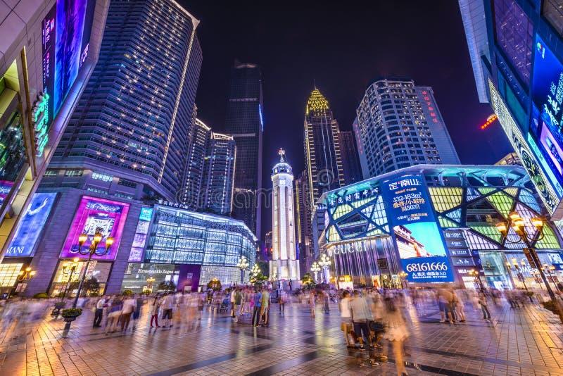 Chongqing, de Stadsvierkant van China stock afbeeldingen