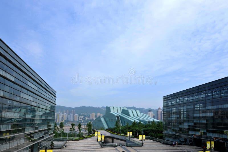 Chongqing Grand Theatre royaltyfria foton