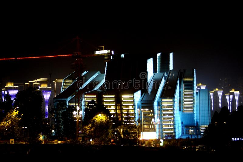 Chongqing Grand Theatre royaltyfri foto