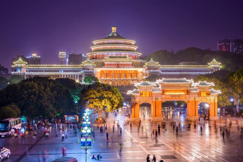 Chongqing Great Hall dos povos fotos de stock royalty free