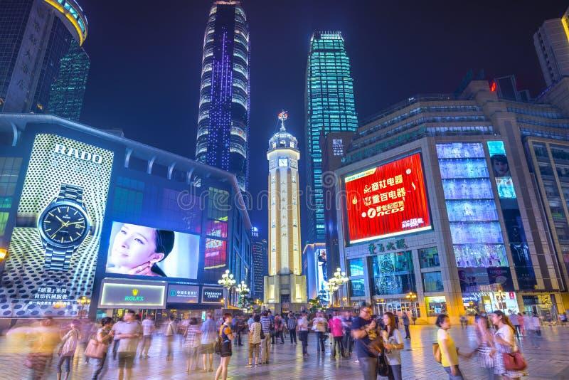 Chongqing, het Winkelen van China District royalty-vrije stock foto's