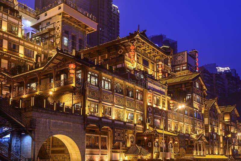 Chongqing in Hongyadong royalty-vrije stock foto's