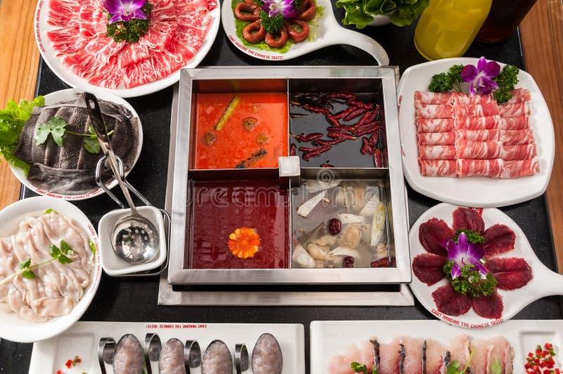 Chongqing hot pot. Chinese food royalty free stock images