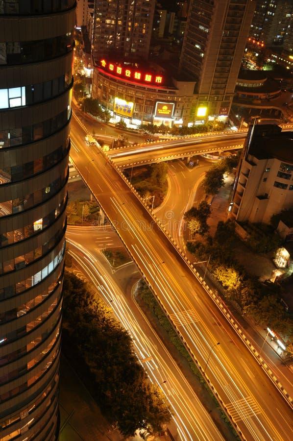 chongqing miasta nightscape obraz stock