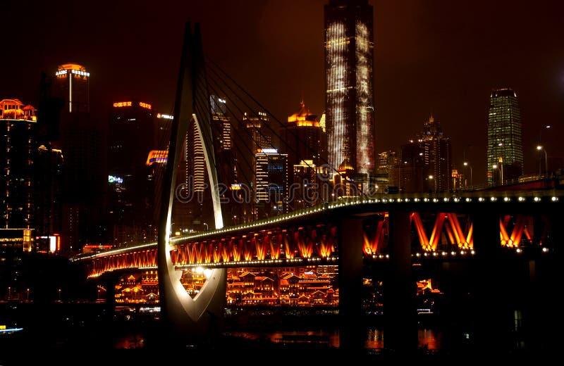 Chongqing Millennium Bridge stock foto's