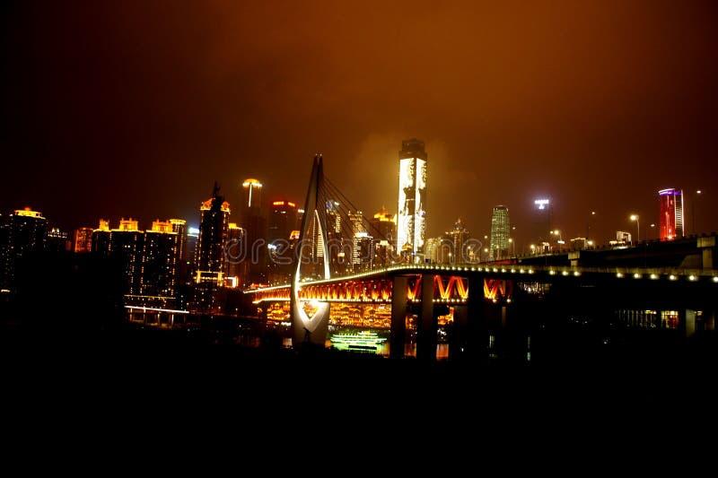 Chongqing Millennium Bridge royalty-vrije stock fotografie