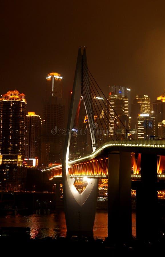Chongqing Millennium Bridge stock afbeeldingen