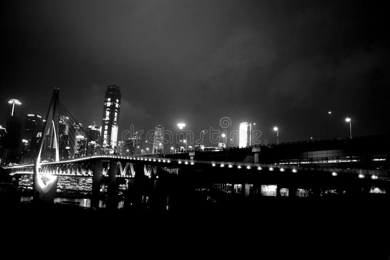 Chongqing Millennium Bridge stock afbeelding