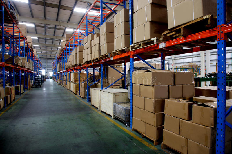 Chongqing Minsheng Logistics Auto Parts-Lager stockbild