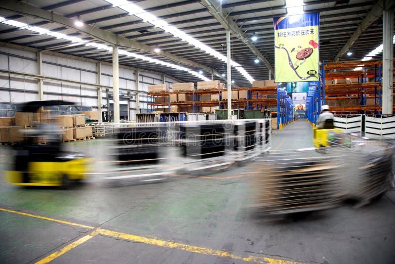 Chongqing Minsheng Logistics Auto Parts-Pakhuis royalty-vrije stock afbeeldingen
