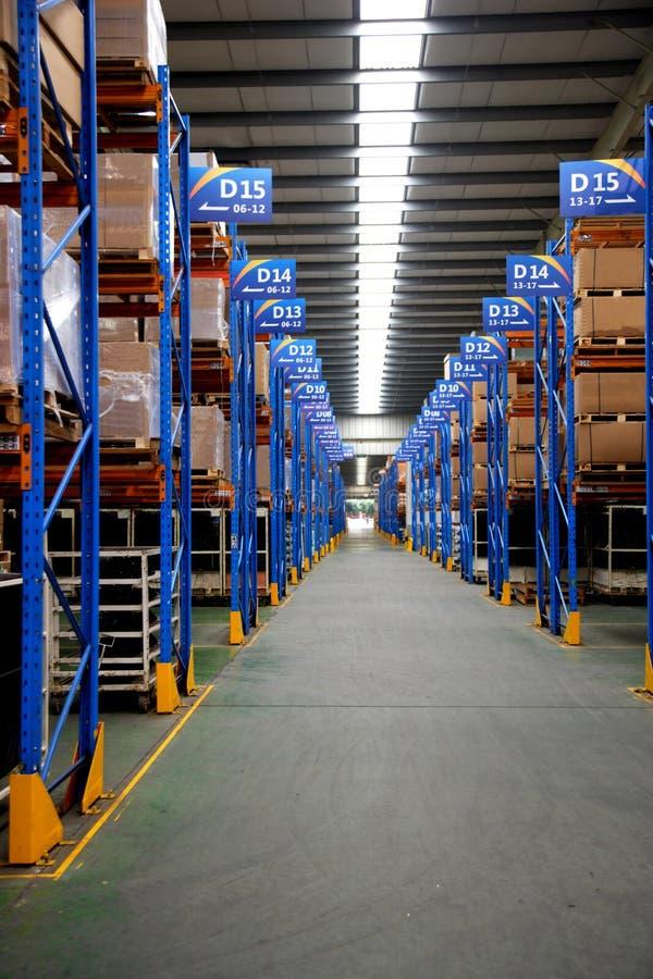 Chongqing Minsheng Logistics Auto Parts Warehouse fotos de archivo