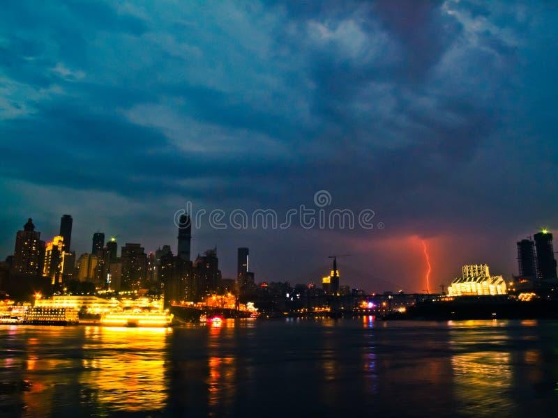 Chongqing nachts stockfoto