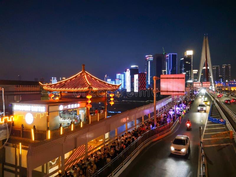 Chongqing Night Scenary lizenzfreie stockbilder