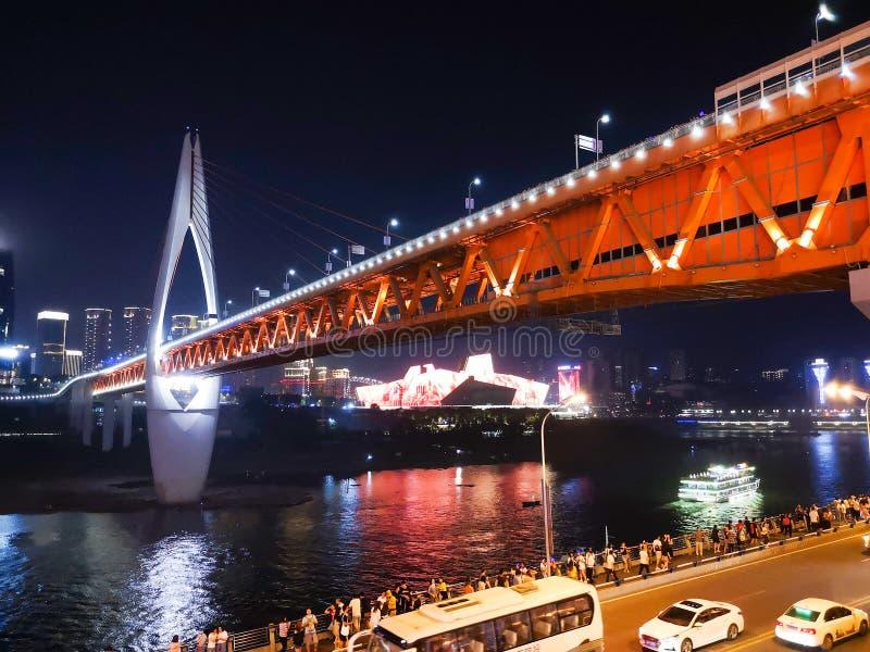 Chongqing Night Scenary royaltyfria bilder