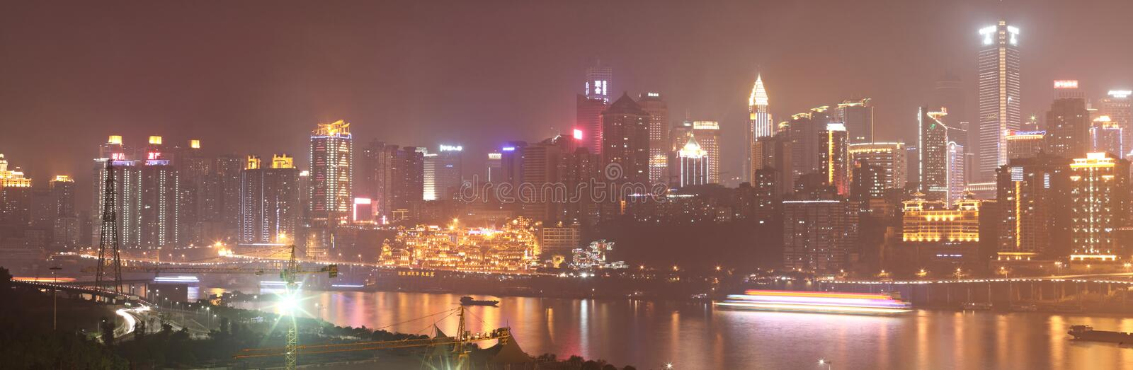 Chongqing night scene royalty free stock photo