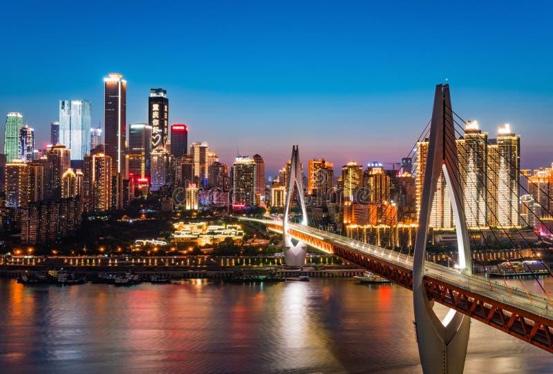 Chongqing Night Skyline image libre de droits
