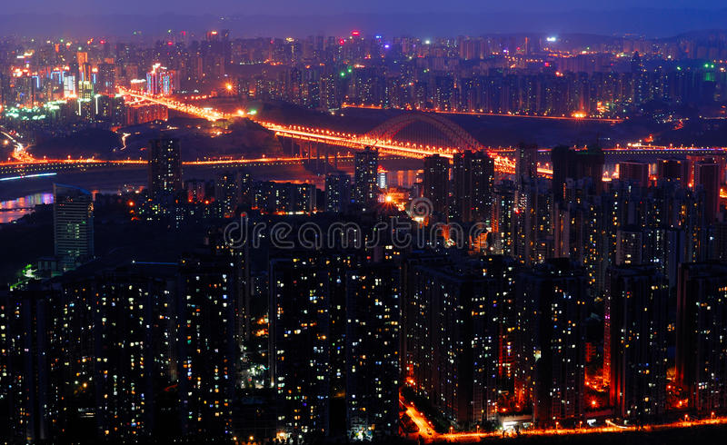 Chongqing noc scena obrazy stock