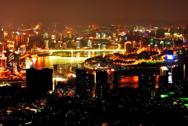 Chongqing noc scena obrazy royalty free