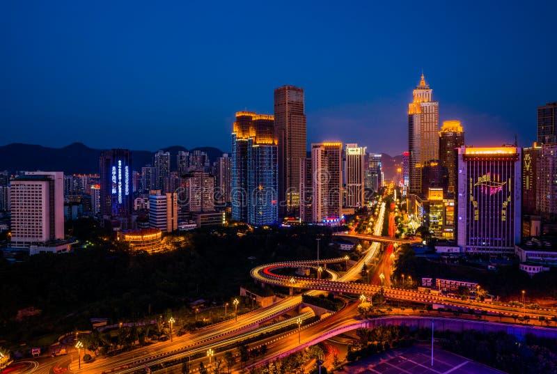 chongqing noc sceny zdjęcie royalty free