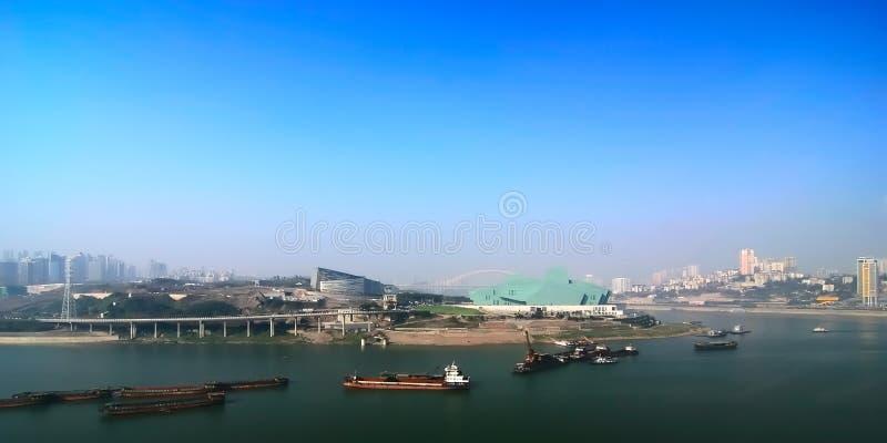 Chongqing port 2. A new chongqing port under the blue sky stock image
