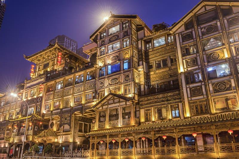 Chongqing przy Hongyadong obraz royalty free