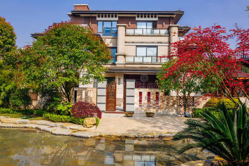 Chongqing real estate. Luxurious real estate home ,chongqing,China royalty free stock photography