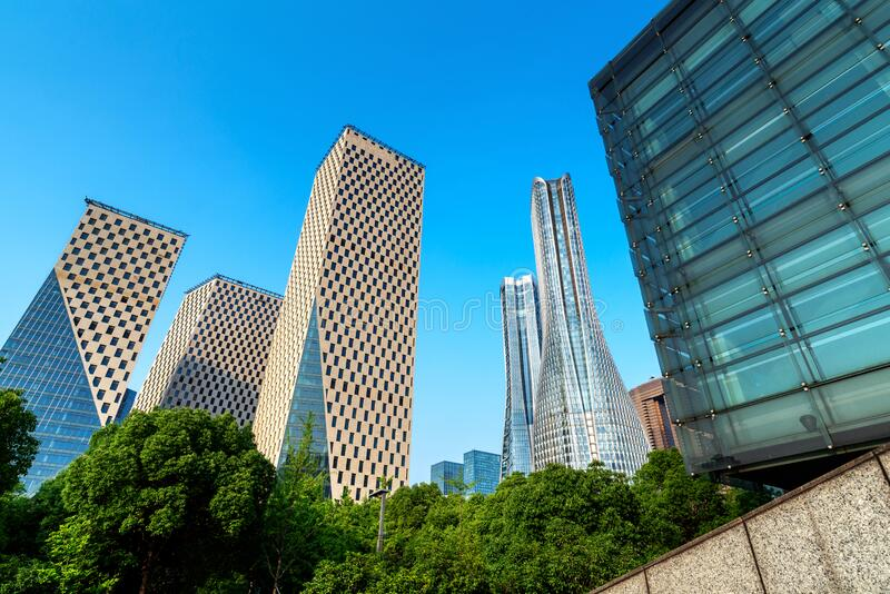 Chongqing skyscrapers royalty-vrije stock afbeelding