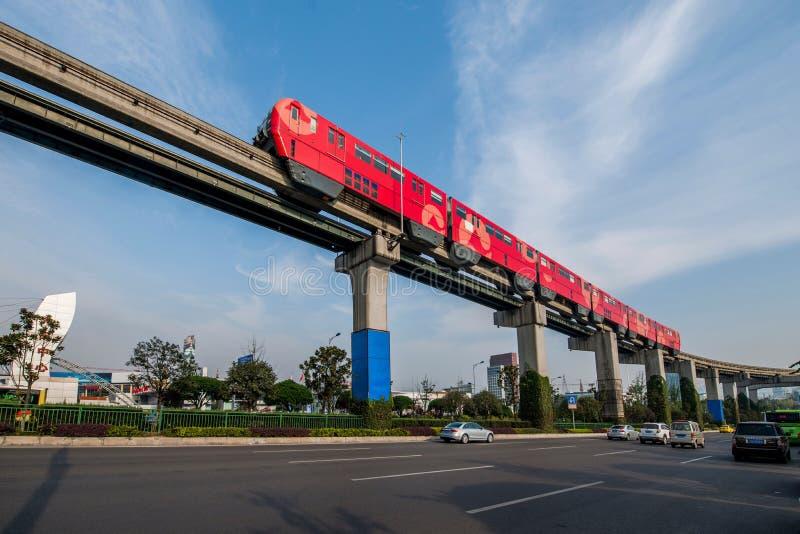 Chongqing Urban Rail Transit fotografia stock