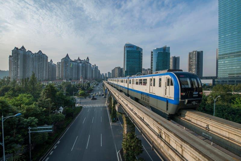 Chongqing Urban Rail Transit fotografie stock libere da diritti