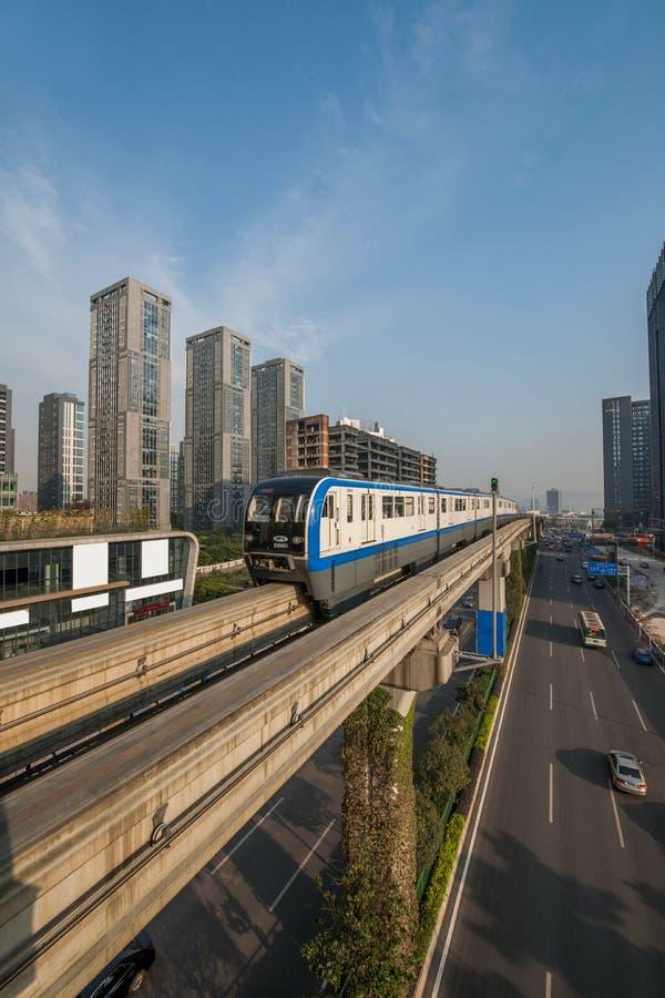 Chongqing Urban Rail Transit immagine stock