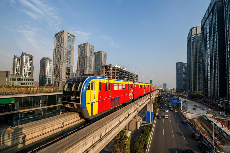 Chongqing Urban Rail Transit fotografia stock libera da diritti