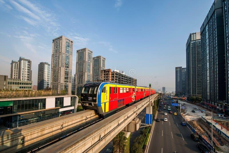 Chongqing Urban Rail Transit immagini stock libere da diritti