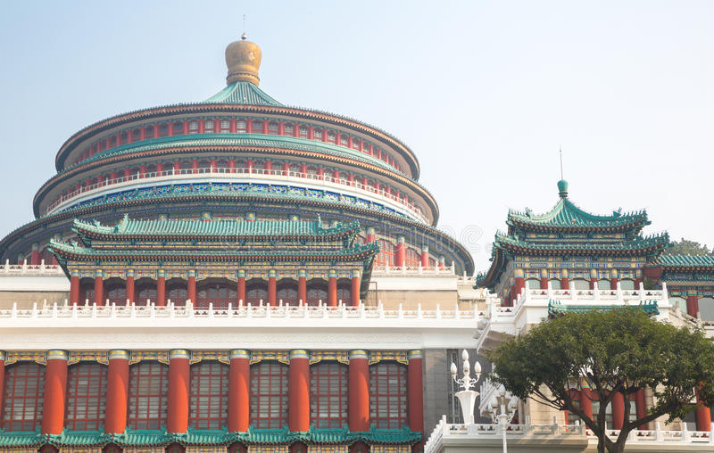 Chongqing wielka hala ludzie zdjęcie stock
