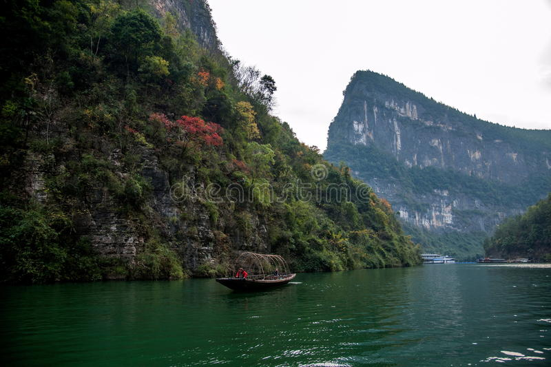 Chongqing Wushan Daning River Small Three Gorges Gorge. Wushan Daning River Small Three Gorges National Forest Park, known as the `wonders of China`, `the world stock image