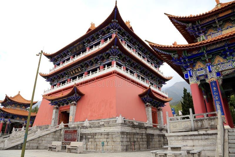 Chongshen tempel och tre pagoder i Dali Yunnan landskap Kina arkivbild