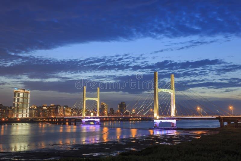 Chongyang Bridge at Taipei, Taiwan royalty free stock photos