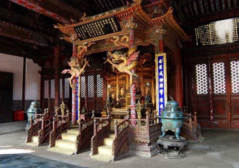 chongzhengdynasti inom slotten som qing arkivbild