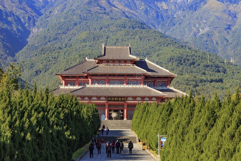 Chonseng kloster i Dali Yunnan arkivbilder