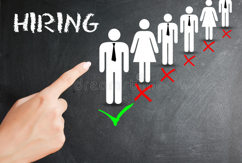 Choose candidate, human resources and employment concept on white background royalty free stock photo