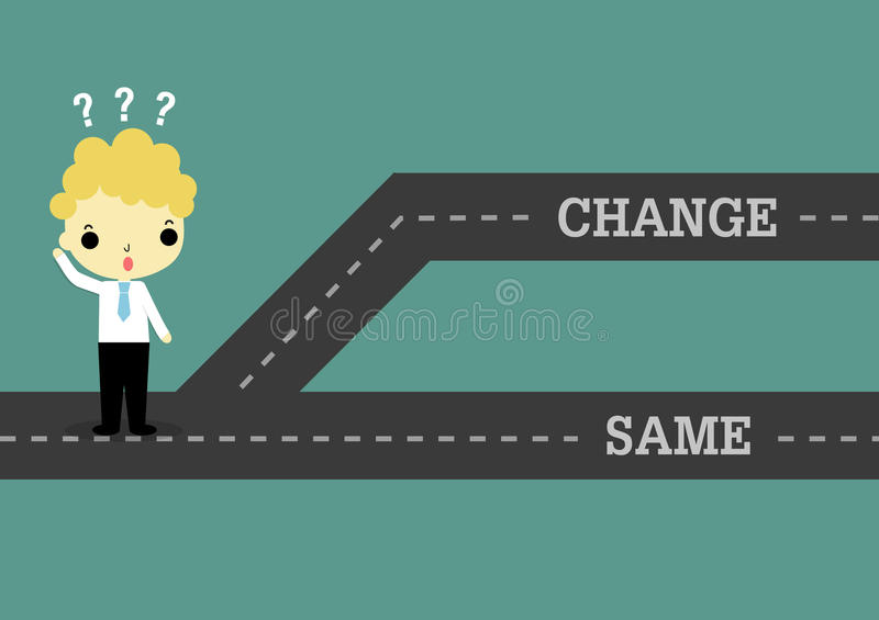 Choose change to future or same the past royalty free illustration