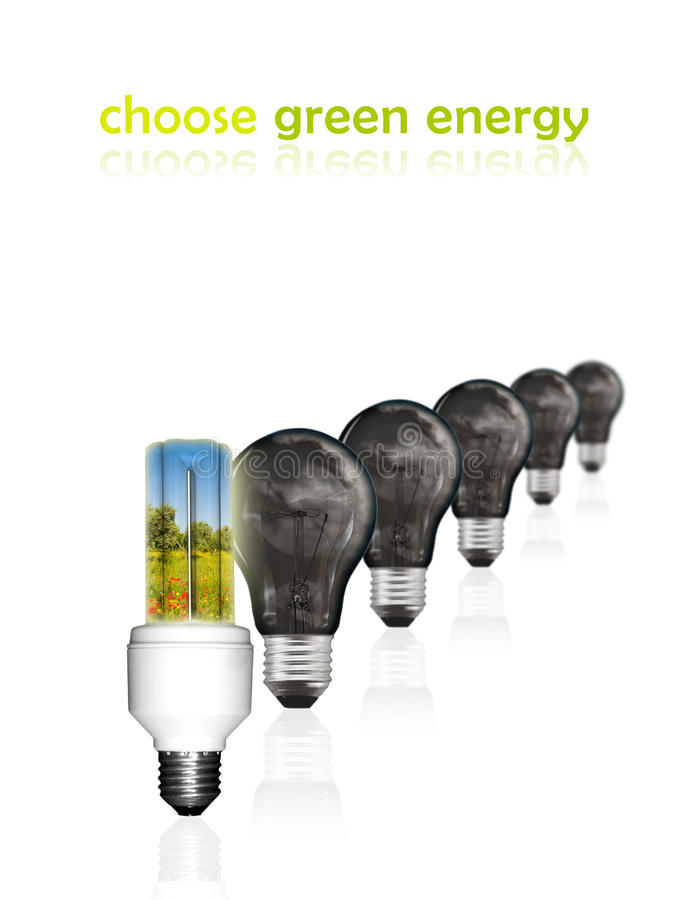 Choose green energy stock photography