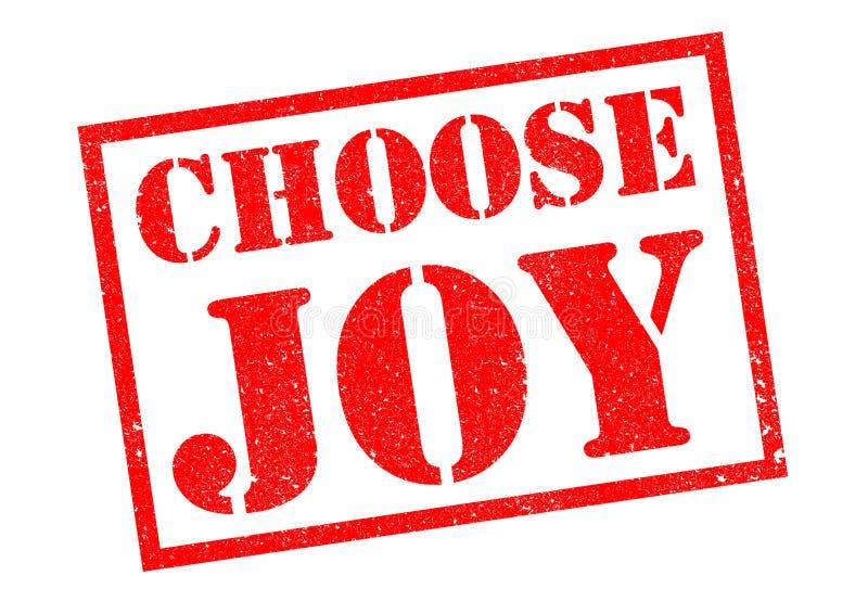 CHOOSE JOY. Red rubber stamp over a white background vector illustration