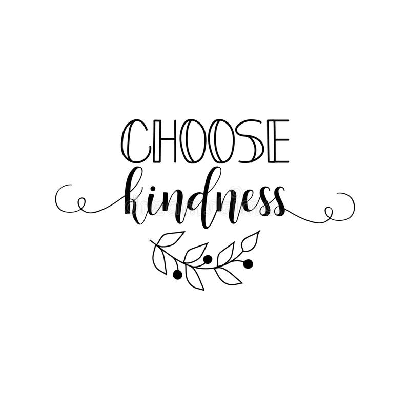 Choose Kindness Coloring Page Vector Illustration Stock Vector Illustration Of Color Coloring 97940806