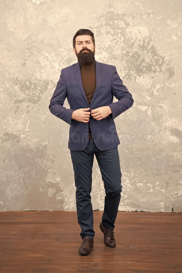 Choose perfect Outfit. Bearded man in formal suit. Business success. Man with beard. Male fashion look. Bearded hipster stock photos