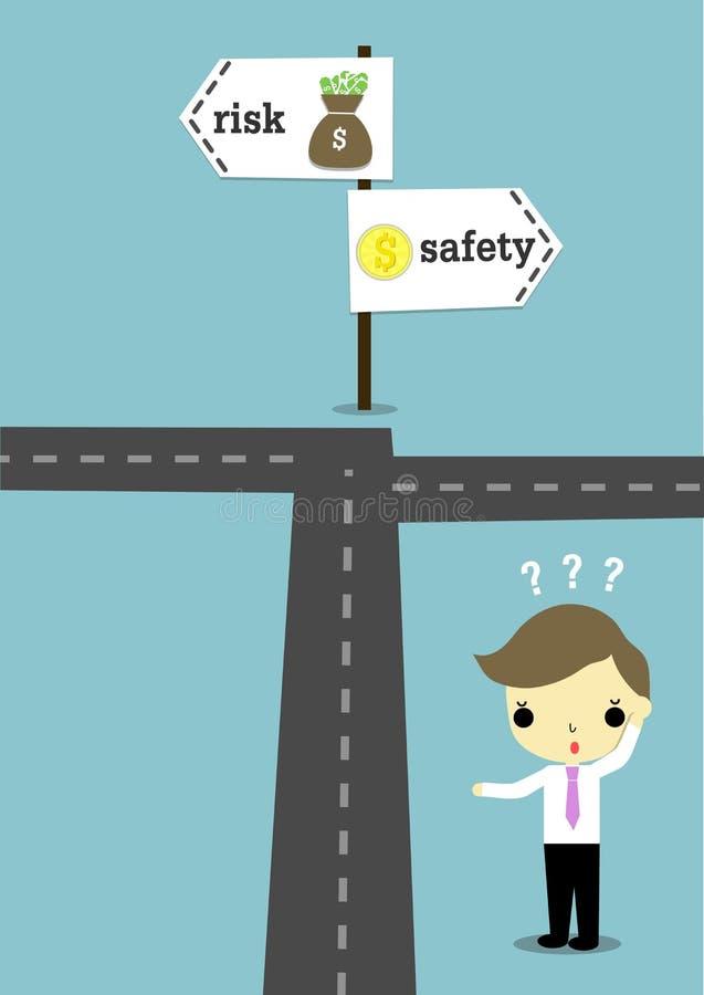 Choose safety or risk royalty free illustration
