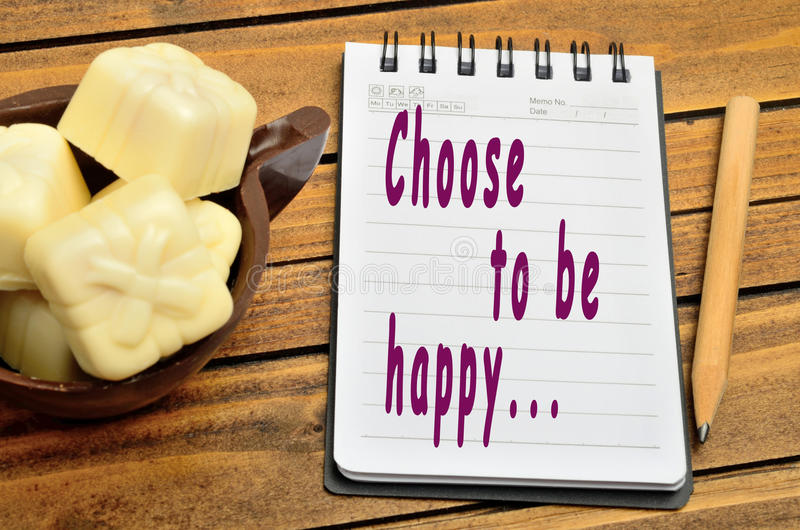 Choose to be happy royalty free stock photo
