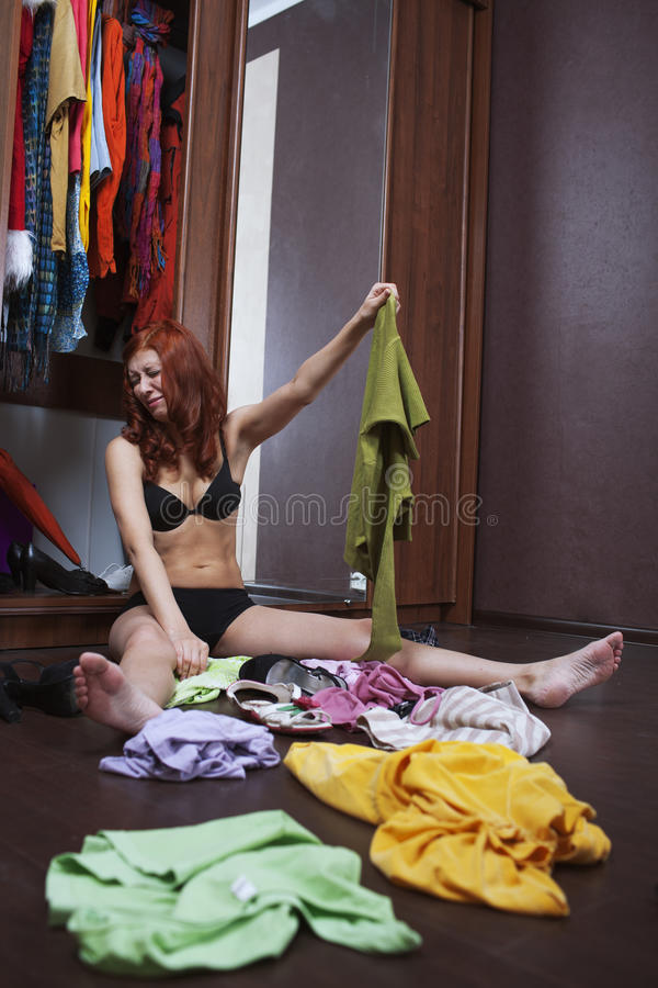 Download Choose what to wear stock image. Image of beauty, interior - 29307067