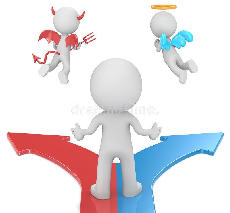 Download Choosing stock illustratie. Illustratie bestaande uit duivel - 39101888