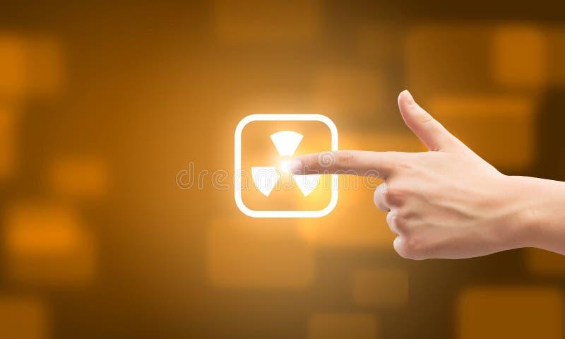 Choosing application stock image