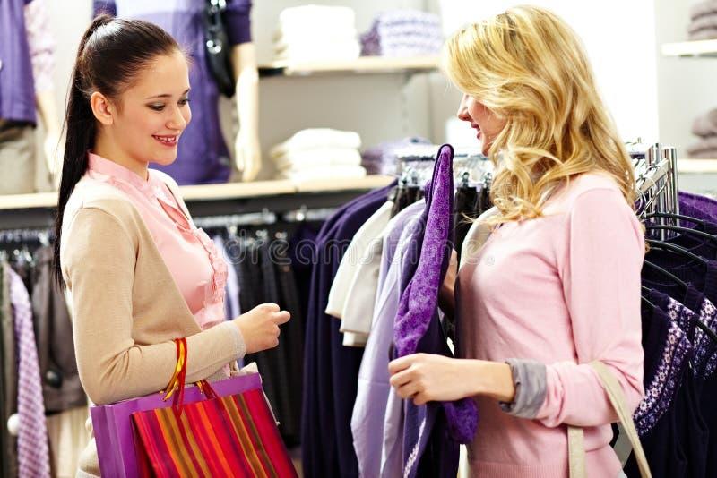 Choosing clothes stock photo